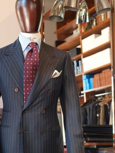 Classic doublebrested suit in vintage Scabal fabric. Zaremba Bespoke Warsaw