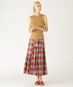 Silk Madras check Asymmetric tiered Skirts(12059205437)  Skirts  Wear   Women's  MACPHEE   TOMORROWLAND Official mail order Tiered Skirts, Silk, Patterns, Check, How To Wear, Vintage, Color, Shopping, Fashion