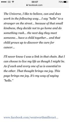 Wentworth Miller. Beautiful sentiment by a beautiful man.