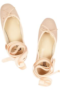 Ballet Beautiful | Leather ballet flats | NET-A-PORTER.COM
