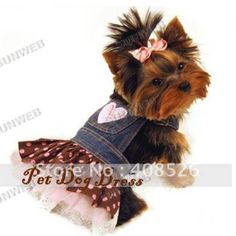 dog clothes for dogs New Pet clothes Dog lovely Lace Heart Apparel Clothes Costume Jeans Dress Skirt free shipping 3799-in Dog Clothing from Home & Garden on Aliexpress.com