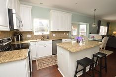 Traditional Kitchen with Crown molding, flush light, Flush, Paintable White Beadboard, High ceiling, Lexington Cabinetry