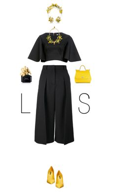 """""""LS"""" by chersjoy ❤ liked on Polyvore featuring Erdem, Cameo, Dolce&Gabbana, Marc Jacobs and PolyPower"""