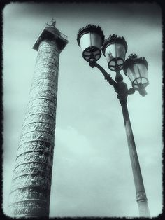 Shot and processed on iPhone at Place Vendome (Paris) with Plastic Bullet.
