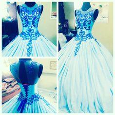 """Mariposa""  #debudantsballgown #ballgown #bluegown #creationbymelow #houseofmeowbymelow Blue Gown, Ball Gowns, Cinderella, Disney Princess, Formal Dresses, House, Fashion, Ballroom Gowns, Dresses For Formal"