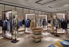 Harvey Nichols' ambitious new menswear floor Retail Interior Design, Showroom Design, Retail Store Design, Retail Shop, Retail Displays, Shop Displays, Merchandising Displays, Window Displays, Boutique Design