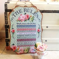 THE RULES Sign Personalised Sign Wedding Gift by SugarPrintFairy