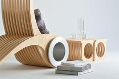 Chaise longue design Exocet- le meuble intérieur multiposition