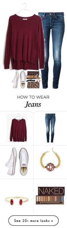 """an old draft I fixed up // read d"" by smbprep on Polyvore featuring Converse, Dondup, Madewell, Urban Decay, Bobbi Brown Cosmetics, Kendra Scott and BaubleBar"