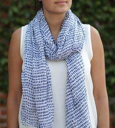 Navy Dot Cotton Scarf | Women's Bags & Accessories | Graymarket Design | Scoutmob Shoppe | Product Detail