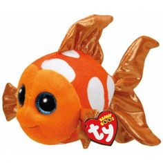 TY BEANIE BOOS SAMI THE ORANGE FISH - SMALL