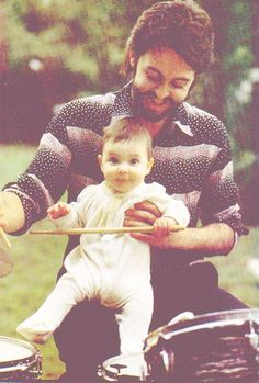 """She came home from school one day and asked, """"Are you Paul McCartney from the Beatles?"""" Paul said, """"Yes, but to you, I'm just daddy."""" Aww:)"""