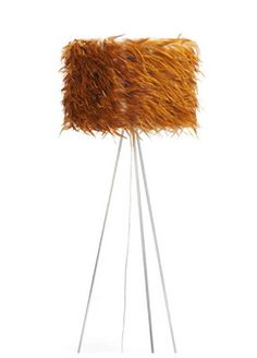 rooster feather floor lamp!!