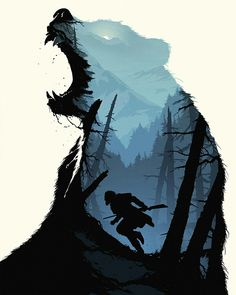 Custom Graphics and Illustrations - Illustration tutorial: How this incredible BAFTA 2016 poster for The Revenant was created - Digital Arts Art And Illustration, Illustration Tutorial, Illustrations And Posters, Illustration Techniques, Illustration Fashion, Award Poster, Double Exposure Effect, Plakat Design, Kunst Poster