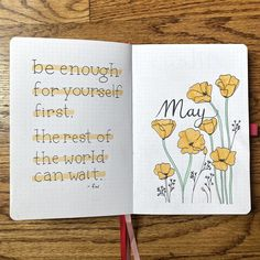 May Bullet Journal Spreads with Golden Poppies Theme for Spring Celebration . - May Bullet Journal Spreads with Golden Poppies Theme for Spring Celebration Bullet Journal School, Bullet Journal Inspo, Journal D'inspiration, Bullet Journal Spreads, Bullet Journal Headers, Bullet Journal Quotes, Bullet Journal Cover Page, Bullet Journal Tracker, Bullet Journal Aesthetic