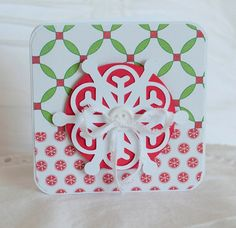 Christmas Card Set of TEN Snowflake Style 110 by CardinalBoutique, $20.00