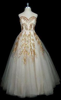 Vintage Dior Gown 1950-1959