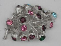 Sarah Coventry broche métal argenté