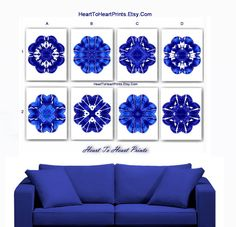 Cobalt Blue Wall Art Cobalt Blue Wall Decor Cobalt Blue Home Decor Cobalt