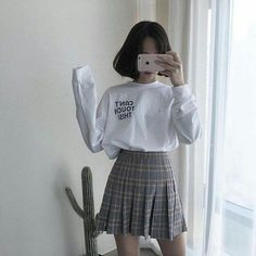 Image about girl in (?) style by ? on We Heart It - asian, fashion, and girl image - : Image about girl in (?) style by ? on We Heart It - asian, fashion, and girl image - Cute Fashion, Girl Fashion, Fashion Outfits, Style Fashion, Grunge Fashion, Korea Fashion, Asian Fashion, Cute Casual Outfits, Pretty Outfits