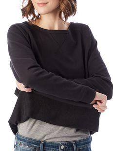 Alternative Apparel Scrimmage Vintage French Terry Sweatshirt - Royal Blue Xs