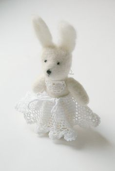 easter SALE / little bunny EMILY / felted toy little by Patricija, $29.00