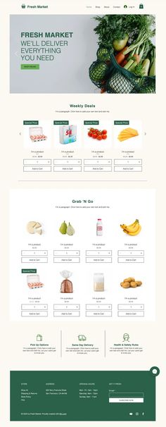 Online Grocery Store | Website Template
