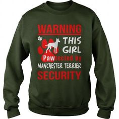 Pawtected by Manchester Terrier security  Crew Sweatshirts T-Shirts, Hoodies ==►► Click Shopping NOW!