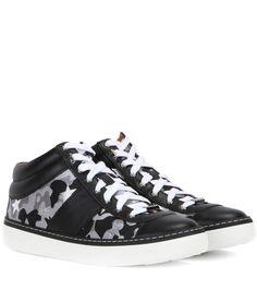 JIMMY CHOO Bells Leather Sneakers. #jimmychoo #shoes #sneakers