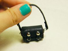 1 Inch Miniature Brown Leather Purse Free Shipping by lilacsmell