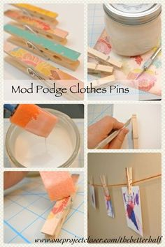 5 Minutes or Less: Dressed Up Clothes Pins - One Project Closer