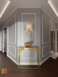 Photo: Hall Design - Interior of a three-room apartment of 96 sq. in the Privilege residential complex, neo-classic style Home Room Design, Home Interior Design, Living Room Designs, House Design, Luxury Homes Interior, Room Interior, Classic Interior, Interior Modern, Home Decor Bedroom