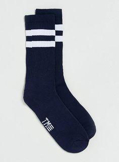Navy Tube Socks With White Stripes Tube Socks, Asos, Underwear, Stripes, Navy, Men, Clothes, Shopping, Collection