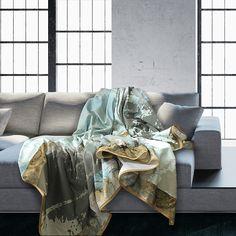 Grand Foulard van Hendrik' op Eco Katoen Van, Throw Pillows, Home, Design, Toss Pillows, Cushions, Ad Home, Decorative Pillows, Vans