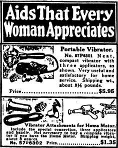 """En el """"Sears, Roebuck and Company's Electrical Goods"""" se vendían vibradores, bajo el título """"Avisos que toda mujer aprecia"""""""