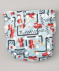 Take a look at this One-Size Fire Engine All-in-One Cloth Diaper by Bumkins on #zulily today!