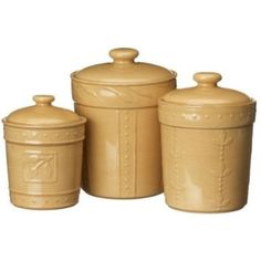 Practical and attractive, the Signature Housewares Sorrento 3 Piece Canister Set is a great option to store food items in the kitchen. Made out of high-qu...