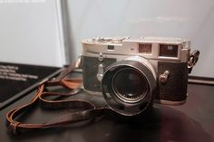 Instrument of Peace. Nick Ut's Leica that took the Pulitzer Prize-winning photograph of children fleeing from a napalm bombing in the village in Vietnam