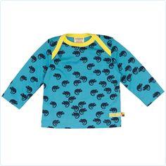 Shirt aqua mit Mini-Chamäleons - loud and proud - www.lolakids.de