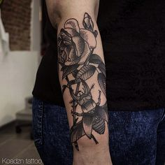 rose and insect by koadzn #tattoos