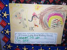 Book: Little Red Riding Hood writing Kindergarten Reading Activities, Kindergarten Class, Little Red Ridding Hood, Red Riding Hood, Talk 4 Writing, Writing Ideas, Fairy Tale Theme, Fairy Tales, School Fun
