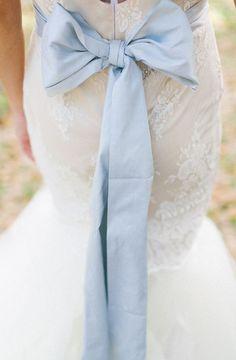 Cute Dusty Blue Bow - Wedding Colours, Wedding Themes, Wedding colour palettes