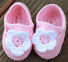 Ravelry: Floral Mary Janes pattern by Annastasia Cruz