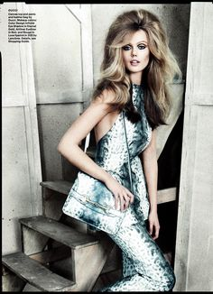 Allure Magazine  Issue: January 2013  Title: Checks & Balances  Model: Frida Gustavsson  Photography: Norman Jean Roy  Styling: Siobhan Bonnouvrier