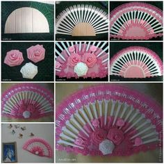 DIY Decorative Fan from Plastic Forks | iCreativeIdeas.com LIKE Us on Facebook == https://www.facebook.com/icreativeideas
