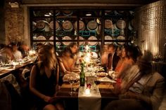 A Brooklyn Winery Wedding Dinner in the Harvest Room