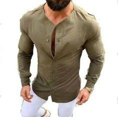 New Arrivals Men's Casual Shirt Soild Color Cotton Linen Button Slim Fit Social Hawaiian Blouses Male Black Long Sleeve Clothing Stylish Shirts, Casual Shirts For Men, Casual Tops, Men Casual, Mens Kurta Designs, Mode Man, Formal Men Outfit, Formal Dresses For Men, Indian Men Fashion