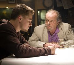 "Leonardo Di Caprio as Billy and Jack Nicholson as Frank Costello  in ""The Departed"", 2006"
