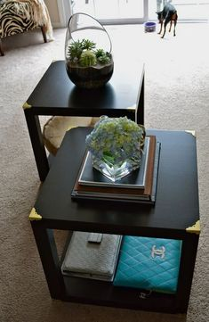 IKEA Lack table may seem a simple and boring furniture piece but if you hack it, you may get an amazing piece! We've already shared some IKEA Lack table . Lack Table Hack, Ikea Lack Hack, Ikea Table Hack, Lack Coffee Table, Ikea Side Table, Cube Table, Diy Table, Tray Tables, Bedside Tables