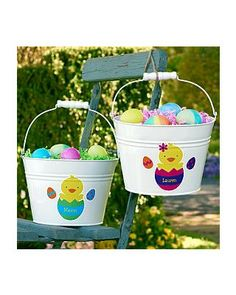 Personal Creations Easter Metal Treat Pail from Personal Creations | BHG.com Shop